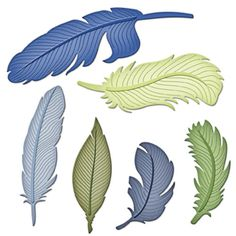 Shapeabilities® Feathers Etched Dies