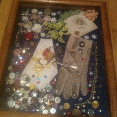 Shadow box of grandmothers things... :)