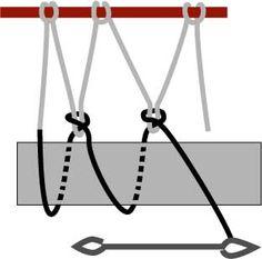 Diamond mesh netting www. Paracord Knots, Rope Knots, Macrame Knots, Survival Knots, Survival Skills, Net Making, Rope Crafts, Mesh Netting, Paracord Projects