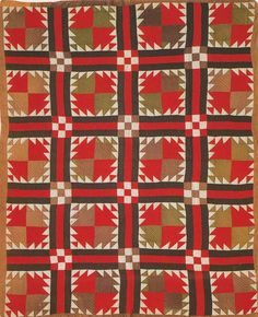 Rocky Glen Quilt, 1880. Made by Mary E. Roberson Floyd. Tennessee.