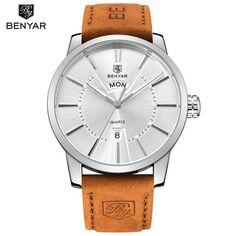 Hot Mens Watches Top Luxury Brand BENYAR Quartz Watch Men Fashion Casual Waterproof Watch Relogio Masculino Montre Homme