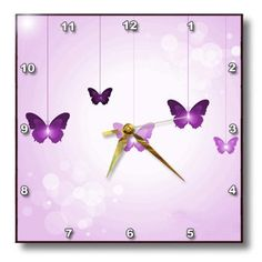 3dRose dpp_78670_1 Cute Dark and Light Purple Dangling Butterflies Wall Clock, 10 by 10-Inch 3dRose http://www.amazon.com/dp/B00JSTJBKE/ref=cm_sw_r_pi_dp_IYePub14EY30K