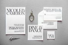 Aerialist Press // Gramercy Letterpress Wedding Invitation // New York Glamour, Modern, Stylish Invitation