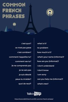 Common French Phrases
