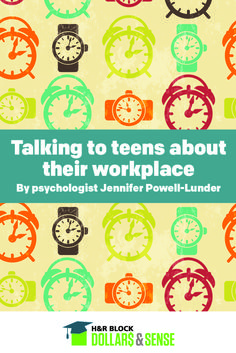 Talking to Teens about their Workplace #psychology #parenting