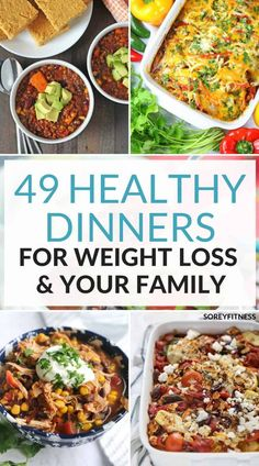 Healthy Dinner Ideas For Weight Loss - 49 Quick Easy Recipes Make meal prep easier with these healthy dinner ideas for weight loss! Enjoy a delicious meal with your favorite with these easy healthy dinner recipes! Meal Prep Menu, Easy Meal Prep, Healthy Meal Prep, Healthy Drinks, Healthy Snacks, Healthy Eating, Clean Eating, Healthy Weight, Healthy Dishes