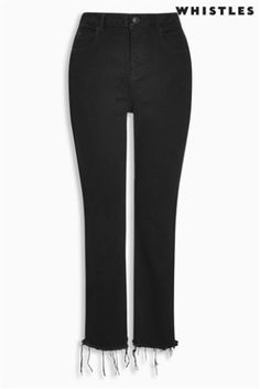 Every girl needs a good pair of black jeans! Shop online in our label ranges for these cigarette jeans from Whistles.