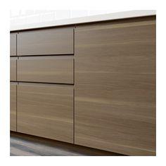 VOXTORP 2-p door f corner base cabinet set, right-hand, walnut effect right-hand/walnut effect 25x80 cm
