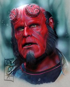 Hellboy drawing by Craig Deakes