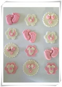 Set of 12 Baby Shower Cupcake Toppers by SugaryLand on Etsy