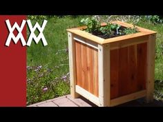 Make a wood planter for $20.