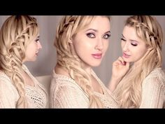 Lace waterfall braid ❤ Mermaid hairstyle for medium and long hair on yourself - YouTube