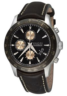 06c7ea4e4a5 Gucci G Timeless Men s G Timeless Black and Gold Chronograph Dial Black