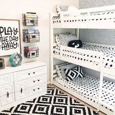 Kids Decor - Cool Kids Bedroom Decor and Style Cool Kids Bedrooms, Girls Bedroom, Childs Bedroom, Kid Bedrooms, Shared Bedrooms, Bedroom Black, Cool Furniture, Bedroom Furniture, Bedroom Decor