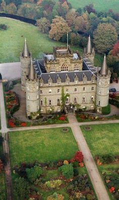 Inverary Castle, Scotland, UK.  Definitely building something like this when I become a millionaire. Haha