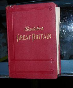 VINTAGE BAEDEKERS GREAT BRITAIN GUIDE BOOK 1927 MAPS HANDBOOK FOR TRAVELERS