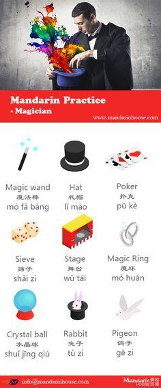 Magician in Chinese.For more info please contact: bodi.li@mandarinhouse.cn The best Mandarin School in China.