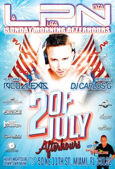 Following the tradition of the Best of Miami Gay Night Life!!! This Saturday Into Sunday July 2nd!!! Danny Villar, Ely Lords, and Juan Saco Mironoff from Miami Gay Blog invites you to LPN La puta Nota Afterhours, the best afterhours in town. This weekend featuring DJ RICO ALEXIS alongside our Resident DJ. CARLOS G. Heart Nightclub, 50 NE 11th Street, Miami - Downtown. Doors open at 4am. #laputanota #lpn #miamigayblog #miamiafterhours #sundayafterhours #circuitboys #ricoalexis #djricoalexis…