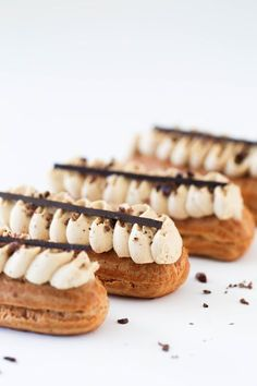 Coffee Eclairs – Beyond Our Sky Coffee Eclairs – Beyond Our Sky,Kuchen Rezepte – Cakes recipes Coffee French Desserts, Köstliche Desserts, Dessert Recipes, Plated Desserts, French Food, Pastry Recipes, Baking Recipes, Kale Recipes, Rib Recipes