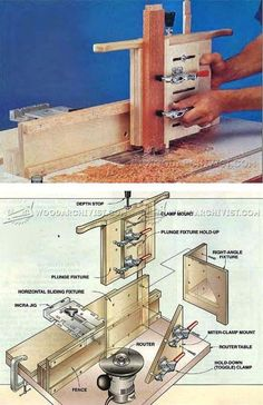 Woodworking plans router table fence plans free download router router table multi joint jig joinery tips jigs and techniques woodarchivist greentooth