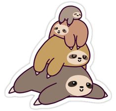 A cute design or illustration of an adorable stack or sloths. Great as stickers and t-shirts. Perfect for those who love sloths, animals, or kawaii art. • Also buy this artwork on stickers, apparel, phone cases, and more.