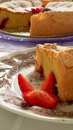 Tortino con le fragole / Cake with strawberries