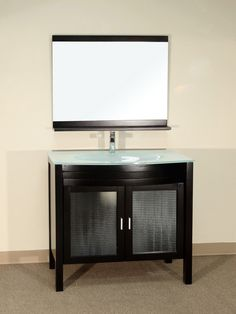 Glass Bathroom Vanities In Multiple Styles Black Bath, Glass Bathroom, Bath Vanities, Vanity, Espresso, Contemporary, Cabinet, Storage, Furniture