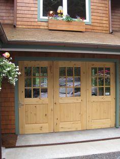 Beautiful folding garage doors