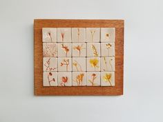 Tablou cu motive vegetale #6 | Corina Marina Ceramics Coasters, Coaster