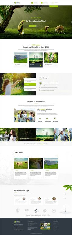 Benxi is clean and modern design PSD template for #gogreen and nonprofit Environmental related organizations website download now..