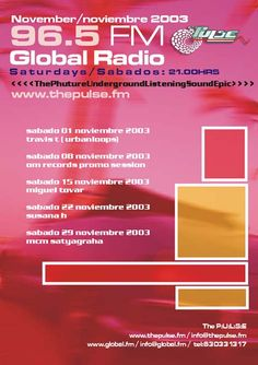 David Hopkins and Carrie Cooper. The Pulse Fm. www.thepulse.fm Global Radio Marbella.  Underground Dance music radio program live radio on the costa del sol. Featuring the best DJ´s from the Costa del Sol and around the World. Travis T Miguel Tovar Susana H MCM Satyagraha