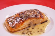 Ready in minutes! Easy Pan Seared Salmon Recipe with Lemon Butter Sauce! Easy fish recipes, that come together fast are perfect for dinner, especially on a weeknight. This simple fish recipe has fe...