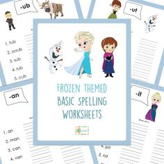 Free Printable Frozen Spelling Worksheets http://superduperkidsblog.com/frozen-spelling-worksheets/