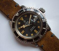 70s Tudor Submariner Ref. 94110 Black Snowflake Tritium Dial Men Divers Watch