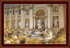 Trevi Fountain, Rome Cross Stitch Pattern by Avalon Cross Stitch on Etsy