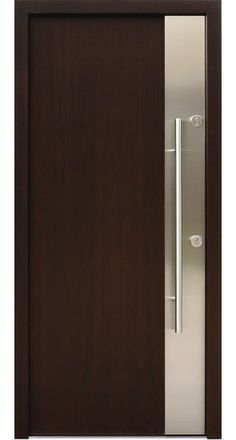 """Milano""- Modern Entry Door in Wenge Finish"