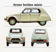 Citroens UK Catalogue  1968: Dyane mixte  #auto #storia