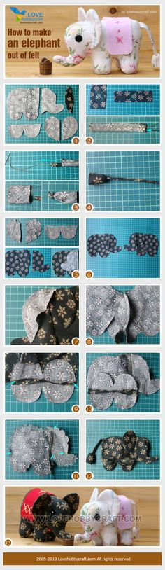 How to make an elephant out of felt
