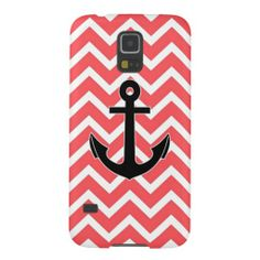 Pink Chevron Anchor Galaxy S5 Cover. #zazzle #samsunggalaxy #samsunggalaxyS5case