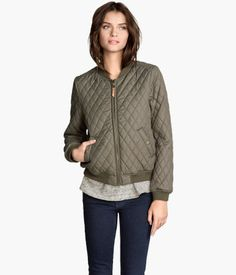 H&M Quilted Pilot Jacket $49.95 The classic quilted jacket. I'm in love with most anything olive green.