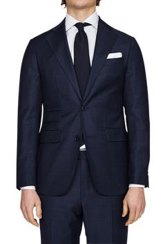 Parma Slim Navy Sharkskin Suit