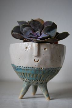 Small tripod bowl planter by AtelierStellaLondon on Etsy