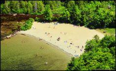 Acadia National Park   Echo Lake Beach in Acadia National Park #maine #summerbucketlist