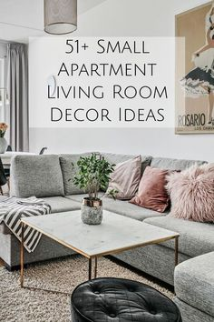 51+ Small Studio Apartment Living Room Decorating Ideas - modern minimalist furniture and more