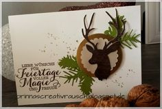 Noch mal Weihnachten love wish for holidays full of magic and joy Chrismas Cards, Christmas Cards 2017, Christmas Card Crafts, Christmas Deer, Xmas Cards, Karten Diy, Birthday Cards For Friends, Card Patterns, Winter Cards