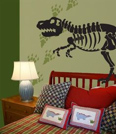 Your Child Will Love These Dinosaur Bones And Tracks Wall Decals Stickers Choose From Several Sizes Including Life Size They Even Stick To Floors