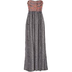 maurices Maxi Dress In Ethnic Print With Neon Embroidery ($20) ❤ liked on Polyvore featuring dresses, vestidos, black, print dress, black smock dress, neon maxi dress, patterned maxi dress and maurices