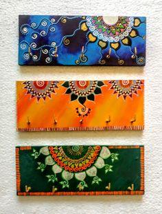 Madhubani Art, Madhubani Painting, Dot Art Painting, Fabric Painting, Key Design, Design Art, Rajasthani Art, Diy Diwali Decorations, Clay Wall Art