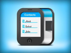 Contacts iOS Icon by Alex Bender, via Behance