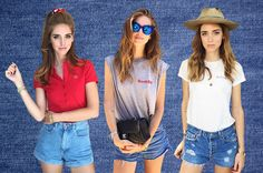 How to match denim shorts